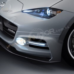 2016+ Miata [ND] AutoExe Front Bumper Cover Aero Kit include LED Daytime Running Light Bar MND2100