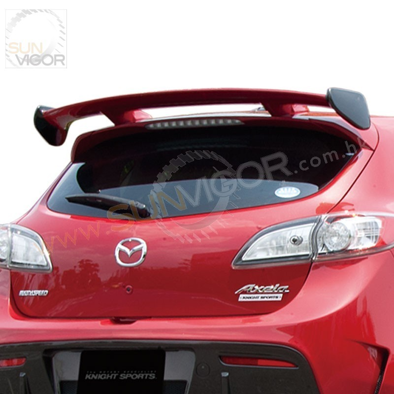 Mazdaspeed Mps Bl Fw Knightsports Rear Roof Spoiler Kzg on Spark Plug Wire Display