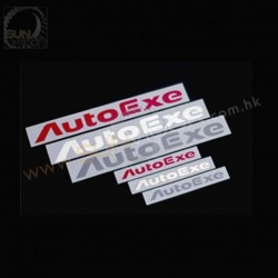 AutoExe Logo Sticker [Red, Silver, White]