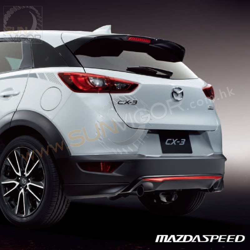 2015 cx 3 dk mazdaspeed rear roof w wing spoiler sun. Black Bedroom Furniture Sets. Home Design Ideas