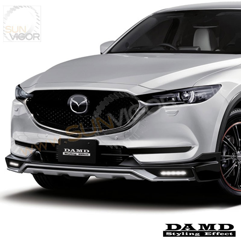 2017 cx 5 kf damd front bumper lower spoiler include led daytime running light kit sun. Black Bedroom Furniture Sets. Home Design Ideas