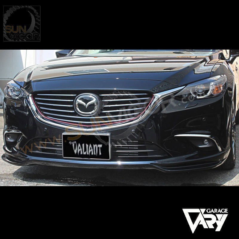 2016 mazda6 gj sedan valiant front bumper spoiler sun. Black Bedroom Furniture Sets. Home Design Ideas