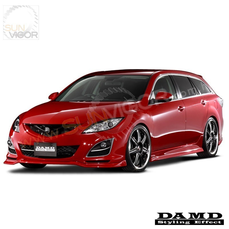 10 12 mazda6 gh damd front bumper lower spoiler sun. Black Bedroom Furniture Sets. Home Design Ideas