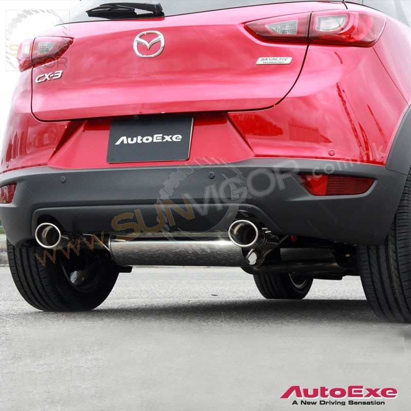 2015 cx 3 dk skyacti g autoexe stainless steel exhaust. Black Bedroom Furniture Sets. Home Design Ideas