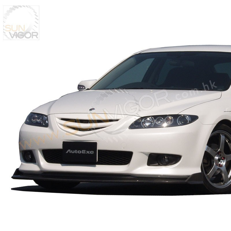 02 05 mazda6 gg autoexe carbon fibre front lower spoiler. Black Bedroom Furniture Sets. Home Design Ideas