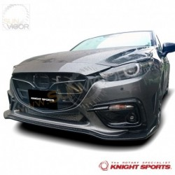 2017+ Mazda3 [BM] KnightSports Front Bumper with Grill Cover Aero Kit [Type-2]