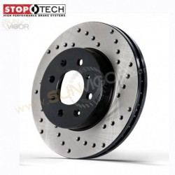 2013+ Mazda6 [GJ] StopTech Rear Sports X-Drilled Brake Rotor Set RB12845085