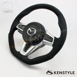 2016+ Miata [ND] Kenstyle D-Shaped Suede with double stitching Steering Wheel KND137033