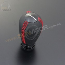 AutoExe Leather Shift Knob with red stitching A139X-03