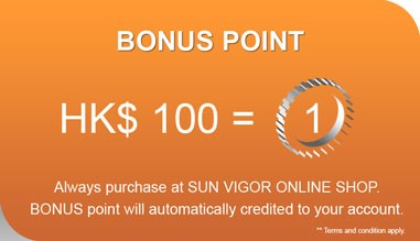 Sun Vigor Online Shop | Bonus Point