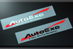 AUTOEXE JAPAN MAZDA2 | M2 | DEMIO  (DJ,DJ5FS,DJ5AS,DJ3FS,DJ3AS, iSTOP, SkyActiv, SkyActiv-Diesel ) modification car performance tuning motorsports automotive racing automovtive part AutoExe Wave Logo Sticker Black A10000-08