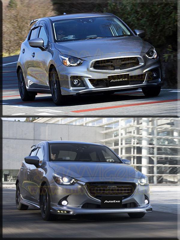 Windshield Cover Sun >> 【AUTOEXE| Mazda2| DJ】Demio modification, performance ...
