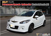 MAZDA2 | M2 | DEMIO  (DE,DE5FS,DE3FS,DEJFS,DE3AS,iSTOP) modification car performance tuning motorsports automotive racing automovtive part |  brands include : AUTOEXE | KNIGHTSPORTS | RACING BEAT | SPLITFIRE,Body Styling Kits (Aero Body Kits),Bonnet Hood,Air Flow Intake Hood Vent Bonnet Scoop,Front Nose,Front Bumper and Grill (with LED Daytime Running Light Set),Front Grill,Side Skirt Extension Splitter Set,Rear Bumper Cover,Rear Under Tail Filler Panel,Rear Lip Under Spoiler,Rear Diffuser Spoiler Splitter,Rear Roof Spoiler,Rear Truck Lid,Rear Trunk Spoiler Lip,Rear Truck Tail Wing Spoiler,Carbonfirbre Bonnet Hood,Carbonfibre Front Bumper Lip Splitter,Carbonfibre Interior Panel Set,Carbonfibre Side Skirt Extension Splitter,Head Light Garnish Eye Lid,Carbonfibre Door Pillar Garnish,Carbon Rear Bumper Lip Splitter,Carbonfibre Rear Diffuser Spoiler Splitter,Carbon Rear Truck Tail Wing Spoiler,Side LED Mirror,Carbon Shift Knob,Lowering Spring Kit,Sport Shock Damper Kit,Sport Coilver Suspension Kit,Adjustable Coilver Suspension Kit,Tie Rod End,Anti-Roll Bar(sway bar),Anti-Roll Bar (sway bar) Link,Upper Strut Tower Bar,Interior Floor Cross Bar,Lower Control Arm Bar,Tower Brace Set,Lower Under Member Brace Set,Rear Torsion Bar (Sway Bar),Sport Air Filter,Sport Air Induction Kit,Cold Air Intake System Kit,Carbonfibre Air Intake System (K&N filter),Premium Stainless Steel Exhaust Muffler (Oval Tip),Titanium + Stainless Exhaust Muffler,Premium Stainless Steel Exhaust Muffler Tip,Front Pipe,Exhaust Expansion Chamber Kit,Exhaust Manifold Header,Sport Big Brake Caliper Kit,Autoexe Brake Kit,Sport Brake Pad,Sport Disc Brake Rotor,Brake Line Kit,Brake Master Cylinder Brace,Brake Air Guide,Sports Clutch Wire,Sport Clutch Kits,Sport Flywheel,Limited Slip Diff (LSD),Sport Intercooler,Radiator,Intercooler Turbo Air Intake Silicon Hose Pipe Kit,Engine Mount,Leather Steering Wheel Trim Wrap Cover,Oil Filter,Oil Filter Cap,Bonnet Hood Strut Damper Kit,Sport Steering Wheel Kit,Leather Shift Knob,Leather Shift Knob,Carbonfibre Shift Knob,Short Helical Atenna,Windshield Wiper Blade,Wheel Lug Nuts Kit Set,Interior LED Light Set,Rebuilt Tuning Rotary Engine,LED Side Mirrow Cowl,Meter Hood,Shift Levers Paddler,Spark Plug Wire,Grounding Wire Cable,Earth System Kit