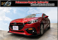 MAZDA3 | M3 | AXELA  (BM,BM2FS,BMEFS,BM5FS,BM5AS,BM5FP,BM5AP,BYEFP,SkyActiv,SkyActiv-Diesel,Hybird) modification car performance tuning motorsports automotive racing automovtive part |  brands include : AUTOEXE | KNIGHTSPORTS | RACING BEAT | SPLITFIRE,Body Styling Kits (Aero Body Kits),Bonnet Hood,Air Flow Intake Hood Vent Bonnet Scoop,Front Nose,Front Bumper and Grill (with LED Daytime Running Light Set),Front Grill,Side Skirt Extension Splitter Set,Rear Bumper Cover,Rear Under Tail Filler Panel,Rear Lip Under Spoiler,Rear Diffuser Spoiler Splitter,Rear Roof Spoiler,Rear Truck Lid,Rear Trunk Spoiler Lip,Rear Truck Tail Wing Spoiler,Carbonfirbre Bonnet Hood,Carbonfibre Front Bumper Lip Splitter,Carbonfibre Interior Panel Set,Carbonfibre Side Skirt Extension Splitter,Head Light Garnish Eye Lid,Carbonfibre Door Pillar Garnish,Carbon Rear Bumper Lip Splitter,Carbonfibre Rear Diffuser Spoiler Splitter,Carbon Rear Truck Tail Wing Spoiler,Side LED Mirror,Carbon Shift Knob,Lowering Spring Kit,Sport Shock Damper Kit,Sport Coilver Suspension Kit,Adjustable Coilver Suspension Kit,Tie Rod End,Anti-Roll Bar(sway bar),Anti-Roll Bar (sway bar) Link,Upper Strut Tower Bar,Interior Floor Cross Bar,Lower Control Arm Bar,Tower Brace Set,Lower Under Member Brace Set,Rear Torsion Bar (Sway Bar),Sport Air Filter,Sport Air Induction Kit,Cold Air Intake System Kit,Carbonfibre Air Intake System (K&N filter),Premium Stainless Steel Exhaust Muffler (Oval Tip),Titanium + Stainless Exhaust Muffler,Premium Stainless Steel Exhaust Muffler Tip,Front Pipe,Exhaust Expansion Chamber Kit,Exhaust Manifold Header,Sport Big Brake Caliper Kit,Autoexe Brake Kit,Sport Brake Pad,Sport Disc Brake Rotor,Brake Line Kit,Brake Master Cylinder Brace,Brake Air Guide,Sports Clutch Wire,Sport Clutch Kits,Sport Flywheel,Limited Slip Diff (LSD),Sport Intercooler,Radiator,Intercooler Turbo Air Intake Silicon Hose Pipe Kit,Engine Mount,Leather Steering Wheel Trim Wrap Cover,Oil Filter,Oil Filter Cap,Bonnet Hood Strut Damper Kit,Sport Steering Wheel Kit,Leather Shift Knob,Leather Shift Knob,Carbonfibre Shift Knob,Short Helical Atenna,Windshield Wiper Blade,Wheel Lug Nuts Kit Set,Interior LED Light Set,Rebuilt Tuning Rotary Engine,LED Side Mirrow Cowl,Meter Hood,Shift Levers Paddler,Spark Plug Wire,Grounding Wire Cable,Earth System Kit