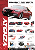 Knight Sports Japan Mazda6(M6,ATENZA,ATENZA WAGON,GG,GY,GH,GJ,SkyActiv,SkyActiv-Diesel) modification car performance functional tuning auto parts brochure