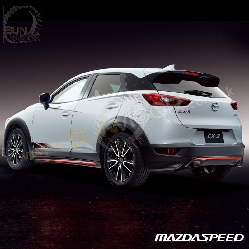 2015+ CX-3 [DK] MazdaSpeed Rear Roof W-wing Spoiler | Sun ...