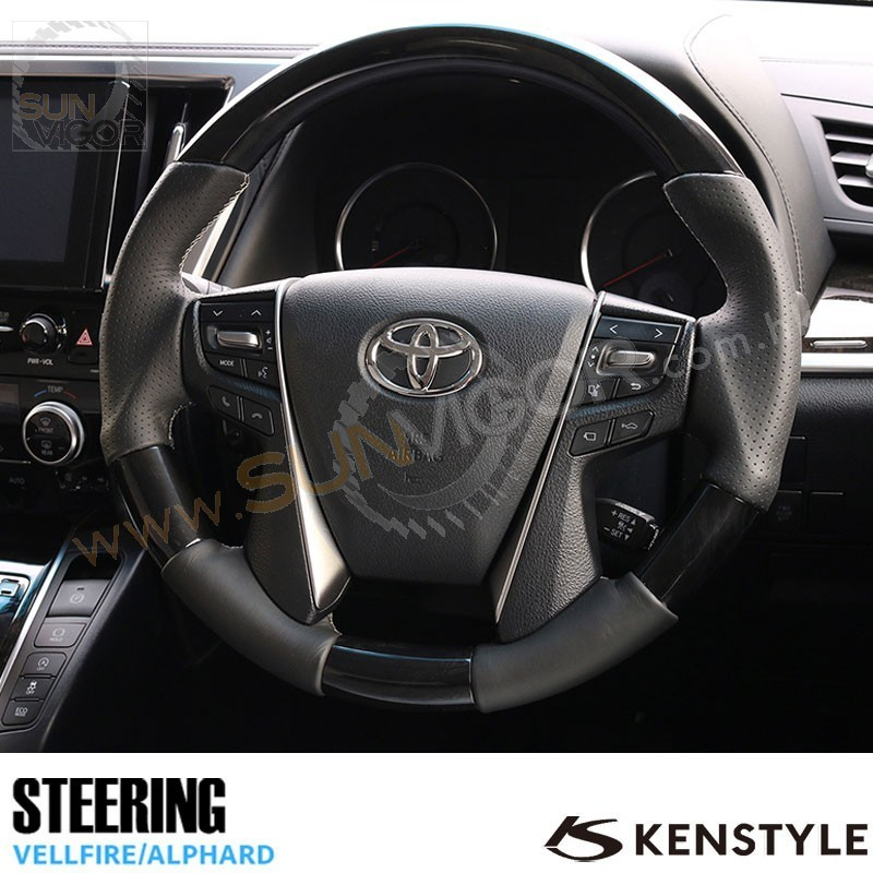2015+ Toyota Alphard Vellfire Kenstyle Leather with Wood Grain