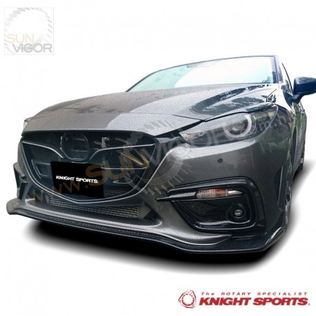 2017 mazda3 bm knightsports front bumper with grill cover aero