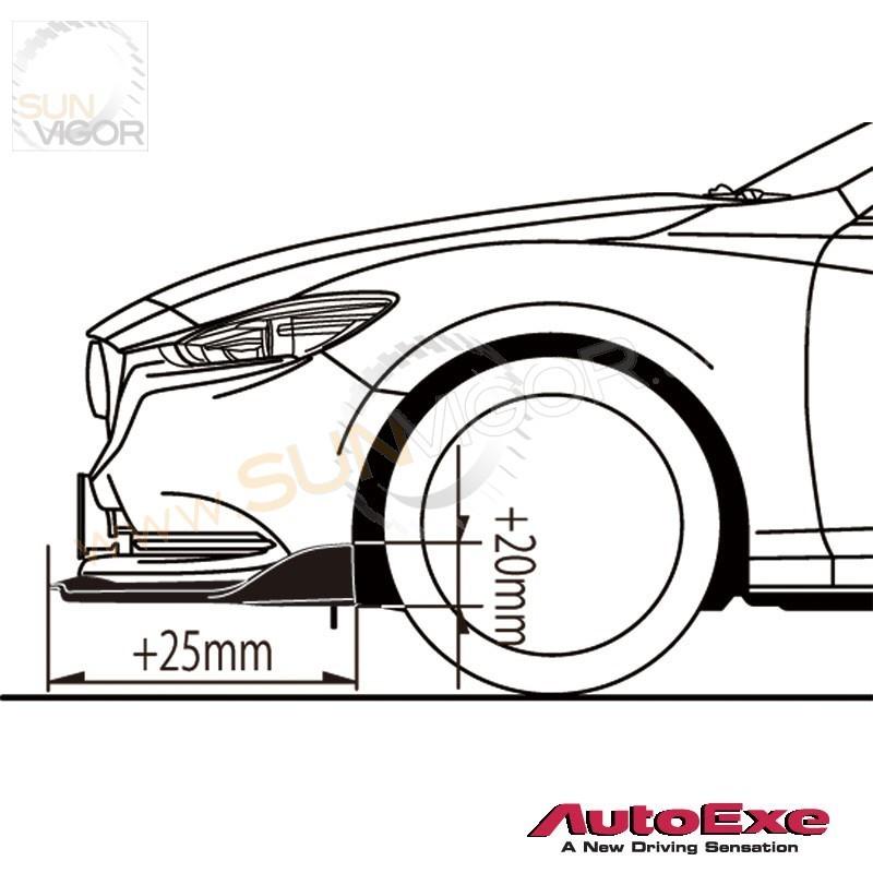2018  mazda6  gj  autoexe front bumper spoiler